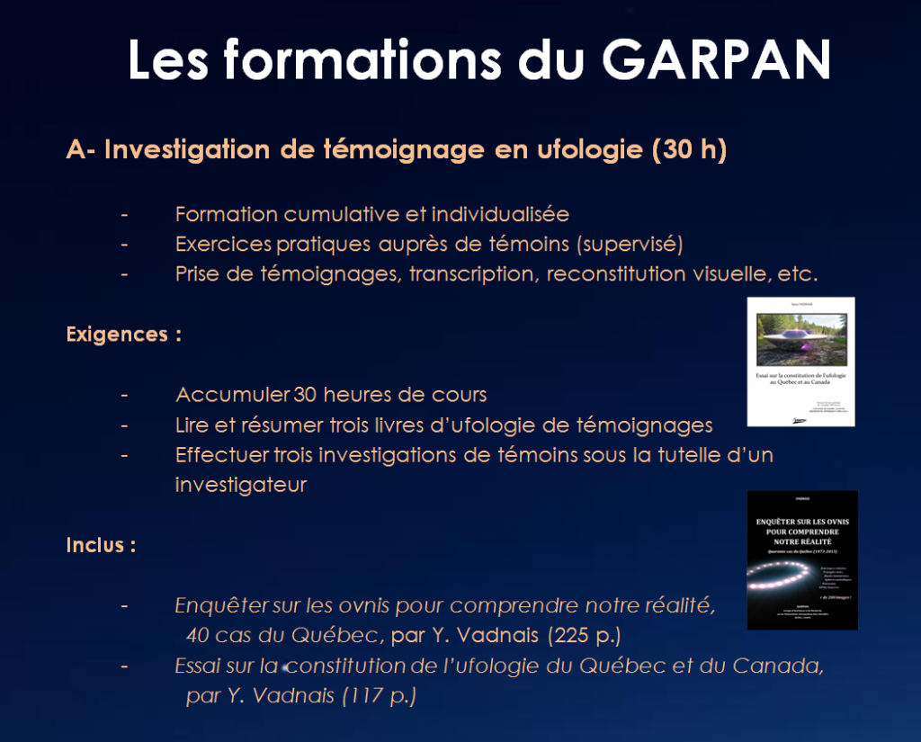 Formations du GARPAN.1