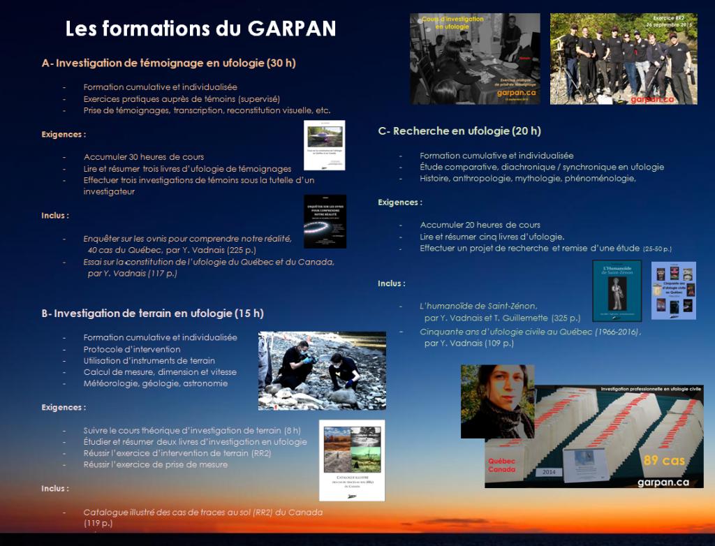 Formations du GARPAN.4